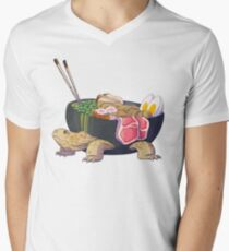 Ramen Tortoise  Men's V-Neck T-Shirt