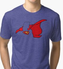 Caped Wonder minimalist Tri-blend T-Shirt