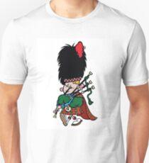 Scottish Bagpipe Player in Kilt  T-Shirt