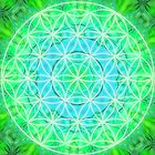 Green Healing - Flower Of Life - Mandala by Lilaviolet