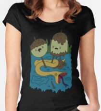 Adventure Time - Rock T-shirt Women's Fitted Scoop T-Shirt