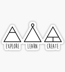 Explore, Learn, and Create Minimalist Symbols Sticker