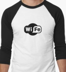 Wife ...a Wi-Fi parody Men's Baseball ¾ T-Shirt