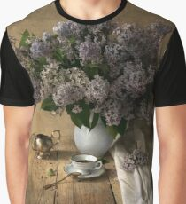 Still life with bouquet of fresh lilac Graphic T-Shirt