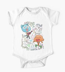 Nobody's A Nobody Gumball and Darwin One Piece - Short Sleeve