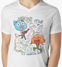Nobody's A Nobody Gumball and Darwin Men's V-Neck T-Shirt