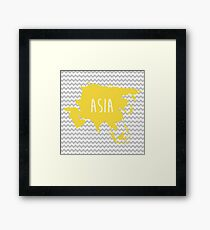 Asia Chevron Continent Series Framed Print