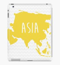 Asia Chevron Continent Series iPad Case/Skin