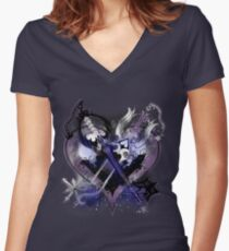 Kingdom Hearts - Oathkeepeer & Oblivion Women's Fitted V-Neck T-Shirt