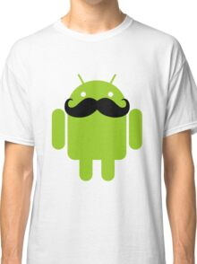 Mustache Android Robot Classic T-Shirt