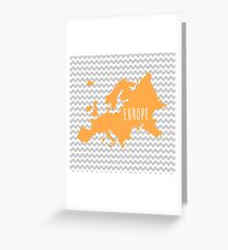 Europe Chevron Continent Series Greeting Card