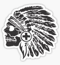 Native Headdress and skull Sticker