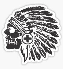 Native Headdress and skull Sticker