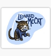 Star Trek Kittens- Leonard McCat Sticker