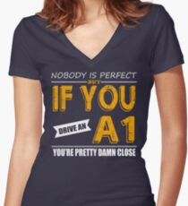 Audi A1 Women's Fitted V-Neck T-Shirt