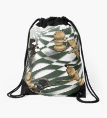 Chess battle Drawstring Bag