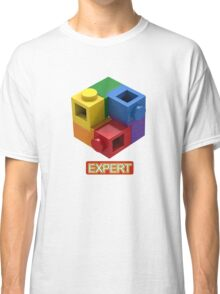 'Expert' Builder T-Shirt Featuring a Brick Built Rainbow Puzzle Classic T-Shirt