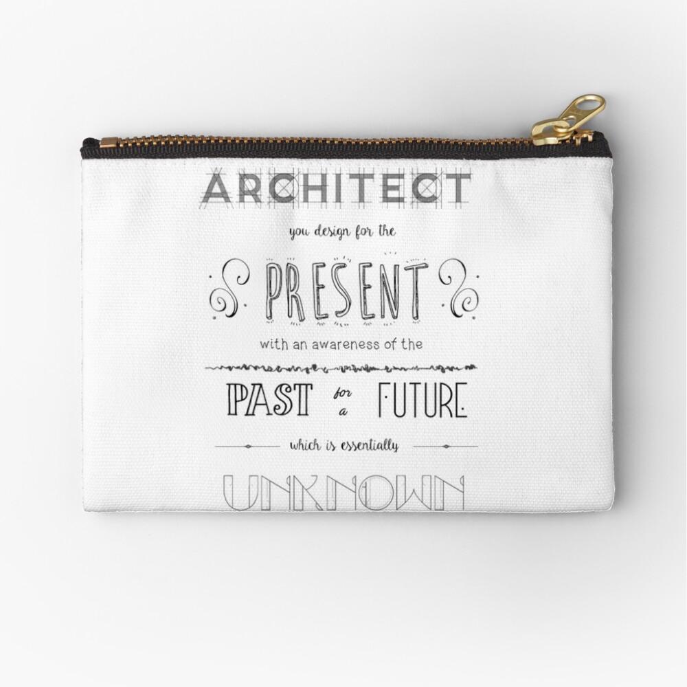 Architecture Zipper Pouch