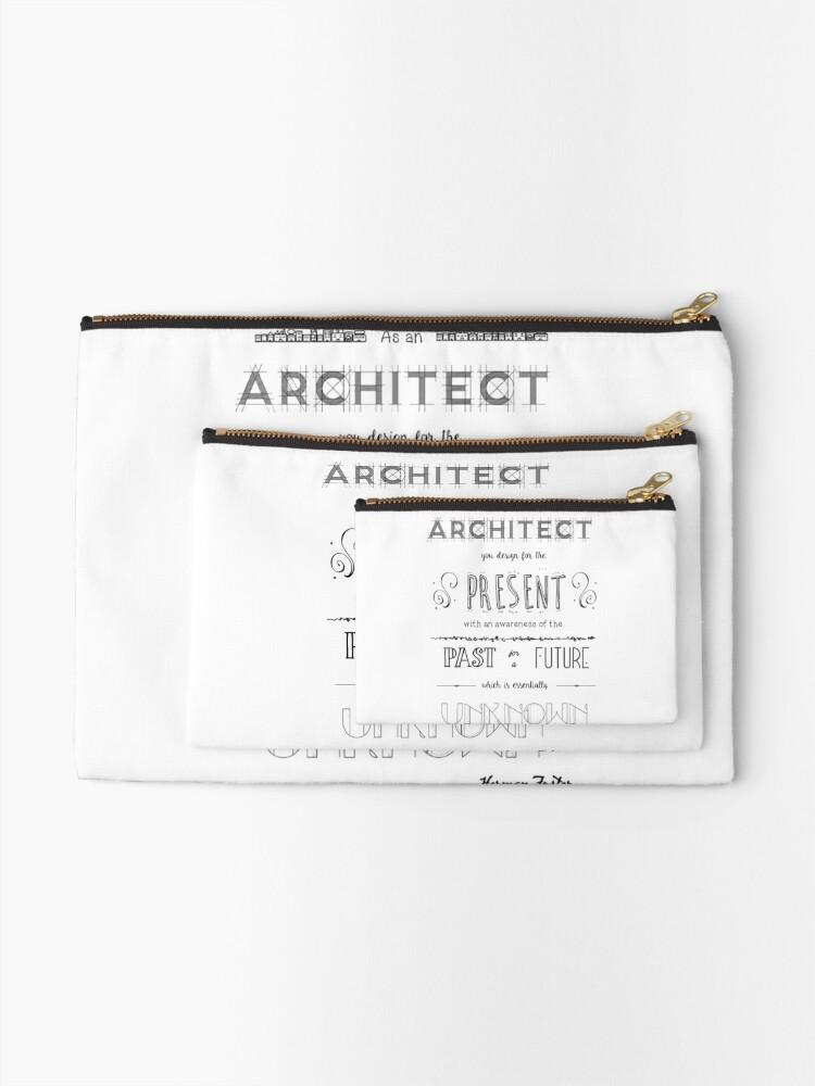 Alternate view of Architecture Zipper Pouch