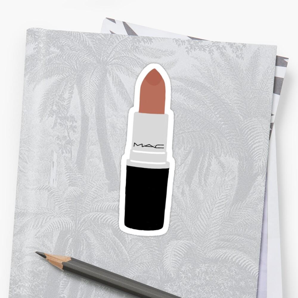 Lippenstift-Aufkleber Sticker