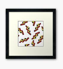 Pop art thunderbolts Framed Print