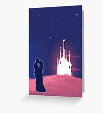Romantic couple kissing Greeting Card