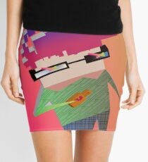 Coffee Face Mini Skirt
