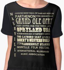 Nashville Tennessee Famous Landmarks Women's Chiffon Top