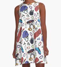 climbing doodle pattern A-Line Dress