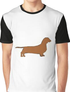dachshund color silhouette Graphic T-Shirt
