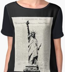 United We Stand Women's Chiffon Top