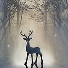 A stag in a mystical forest by Mark Fearon