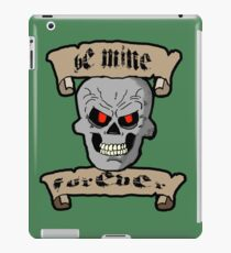Be Mine Forever Skull and Scrolls iPad Case/Skin