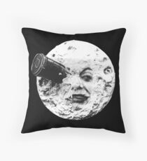 A Trip to the Moon (Le Voyage Dans La Lune) - face only Throw Pillow