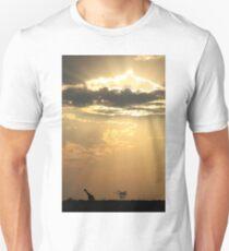 Giraffe Background - Sky Light Wanderer T-Shirt