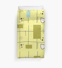 Mid Century Atomic Yellow #01 Duvet Cover