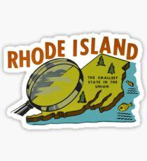 Rhode Island RI State Vintage Travel Decal Sticker