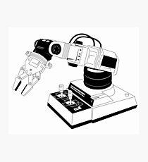 Eighties Robot Arm - Line Art Version Photographic Print