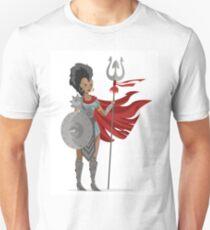 african mohawk trident amazon woman gladiator T-Shirt