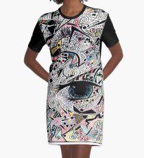 Kunst Auge träumen T-Shirt Kleid