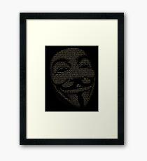 V For Vendetta You May Call Me V Framed Print