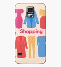 Shopping and Beauty Set in Flat Design Case/Skin for Samsung Galaxy