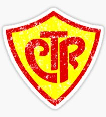 CTR Choose The Right Grunge Style Shield Sticker
