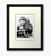 London Composite Pen and Ink Framed Print