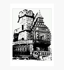London Composite Pen and Ink Photographic Print