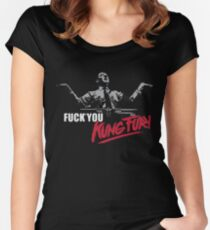 Fuck You Kung Fury Women's Fitted Scoop T-Shirt