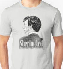 Sherlock Holmes - I am Sherlocked - Benedict Cumberbatch Crosshatch Portrait Unisex T-Shirt