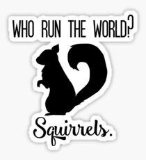 Squirrels Run the World Sticker
