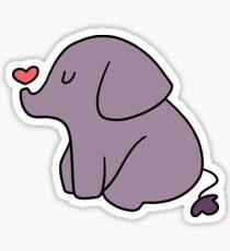 Little Heart Elephant Sticker