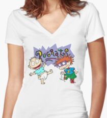 Rugrats - Tommy & Chuckie Women's Fitted V-Neck T-Shirt